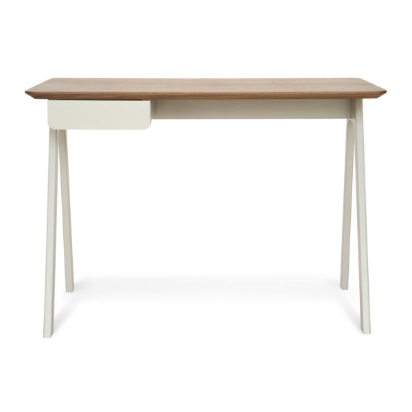 Blu Dot Stash Desk, Walnut / Grey