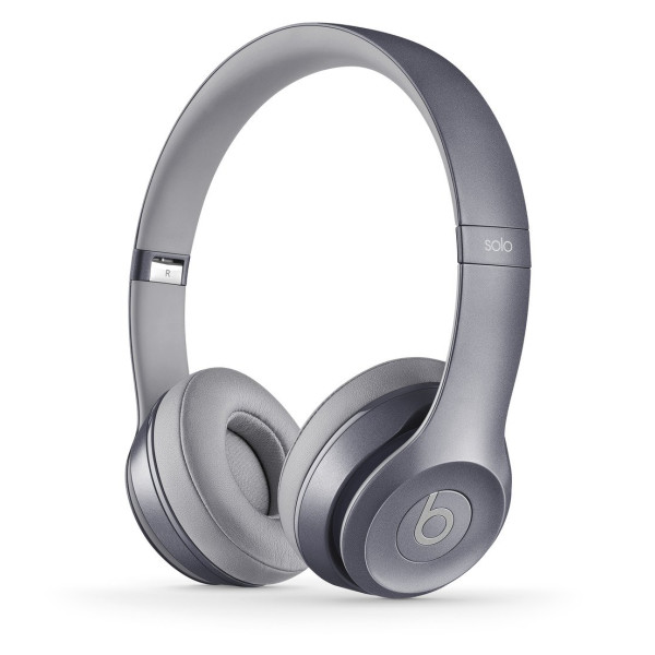 Beats Solo 2.0 Wired On-Ear Headphones, Stone Grey