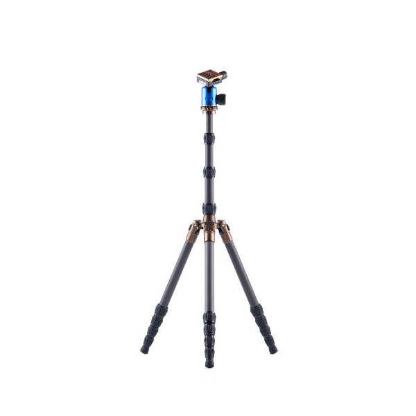 "3 Legged Thing X1.1 Brian Evolution 2 Carbon Fiber Tripod System with AirHed 1 Ball Head, 78.7"" Maximum Height, 17.60lbs Load Capacity, Blue"