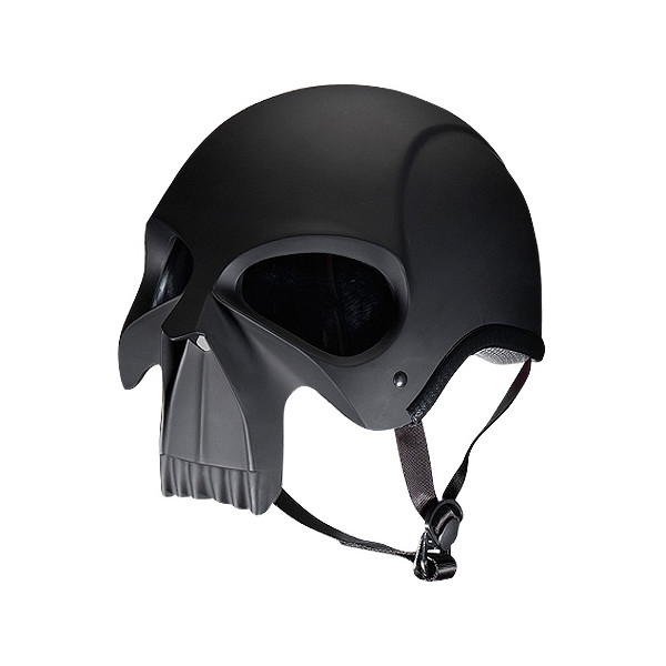 Stryker Darth Knight Adult Street Bike Motorcyle Helmet, Gloss Black