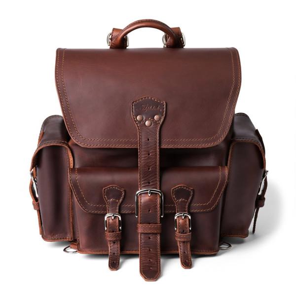 Saddleback Leather Medium, Front Pocket Backpack, Chestnut