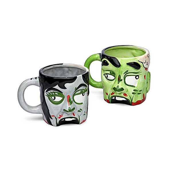 Female Zombie Mug - 16oz Ceramic Coffee Mug