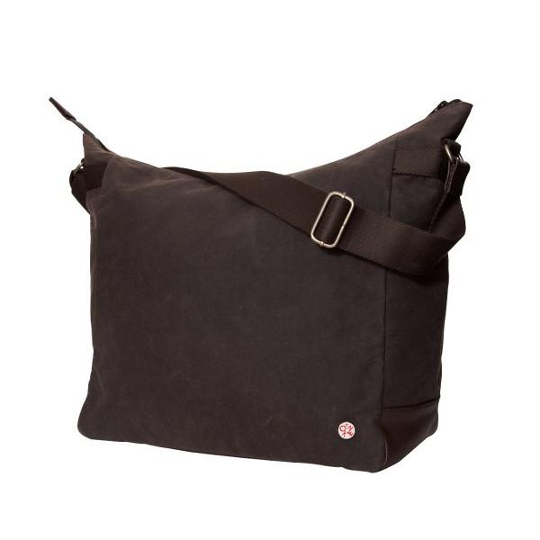 Token Bags Riverside Waxed Shoulder Bag, Dark Brown, One Size
