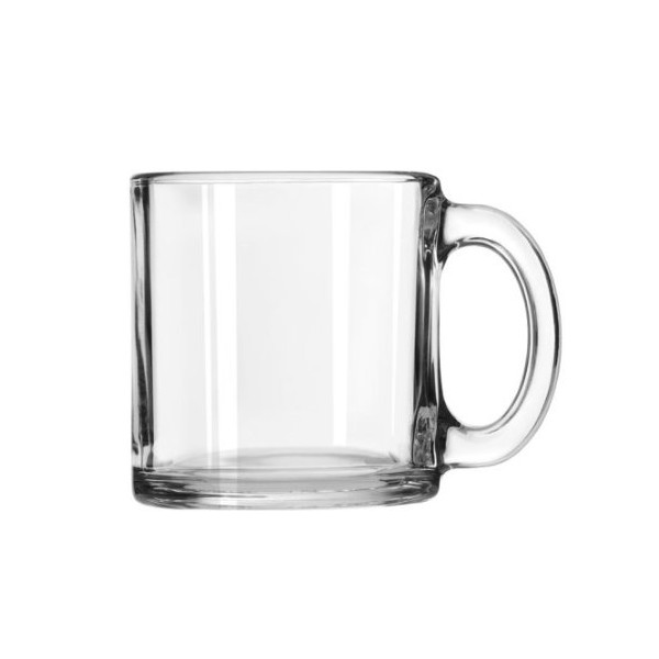 Libbey 13-Ounce Classic Coffee Mug, Box of 12, Clear