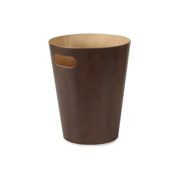 Umbra Woodrow Waste Can, Brown