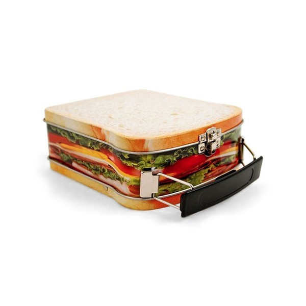 Sandwich Design Snack Box, Mini Lunchbox Cookie Tin