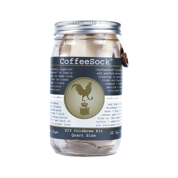 CoffeeSock Coldbrew Filter for Use With Canning Mason Jar