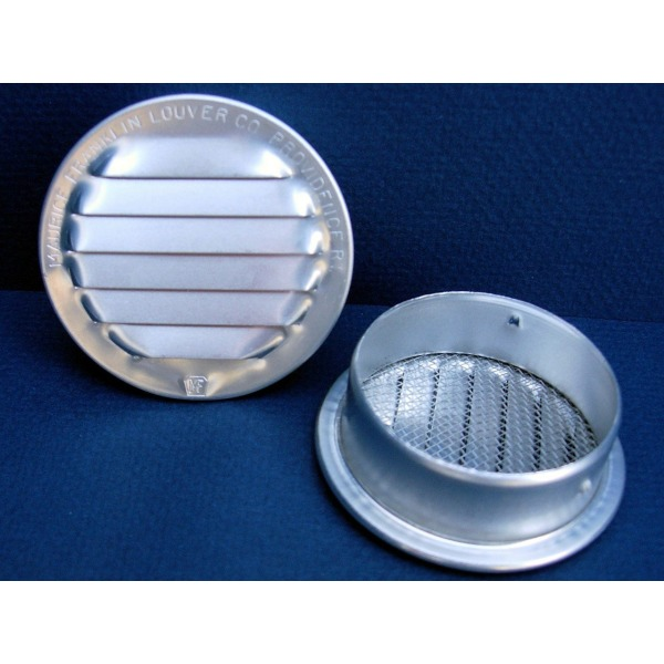 "Maurice Franklin Louver-2"" Round Aluminum Louver with Insect Screen (Priced Per Bag of 6). Item #2"" RL-100"