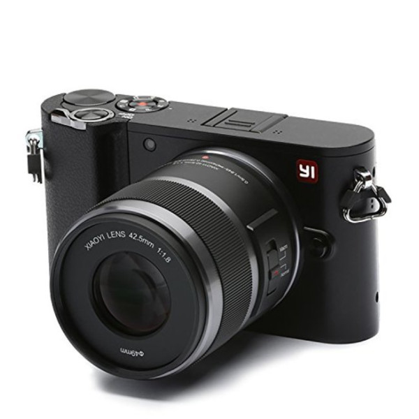 YI M1 Mirrorless Digital Camera with 42.5mm F1.8 Lens Storm Black, US Edition