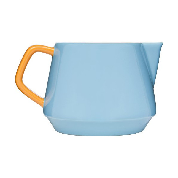 Sagaform POP Stoneware Milk Jug, 16-7/8-Ounce, Turquoise/Orange