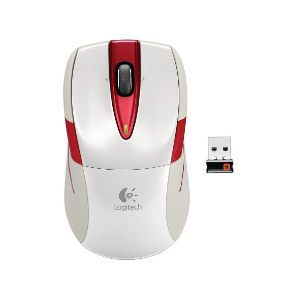 Logitech Wireless Mouse M525 - White/Red