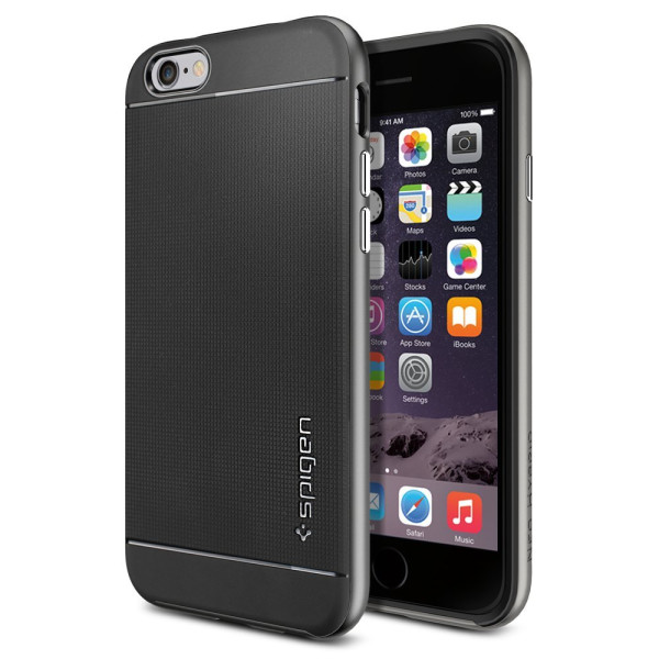 iPhone 6 Case, Spigen Neo Hybrid Case for iPhone 6 (4.7-Inch) - Retail Packaging -  Gunmetal (SGP11031)