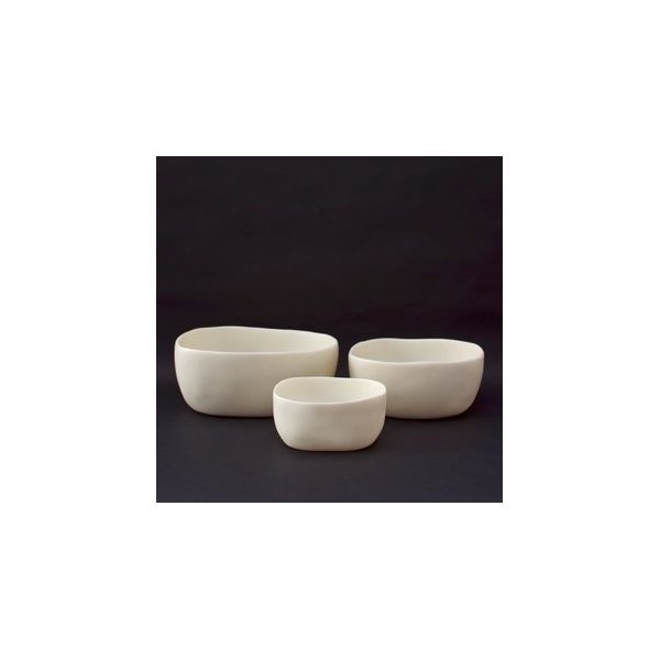 Tina Frey Designs Nested Trio Bowls Set- White