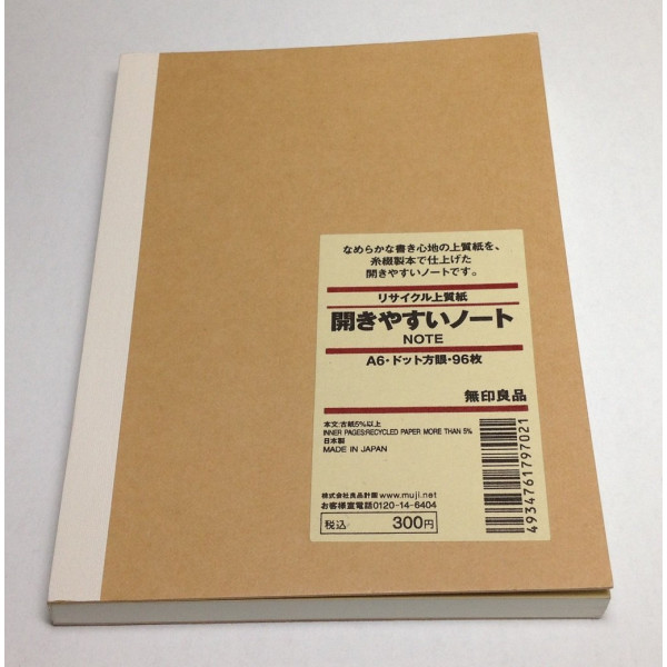 MUJI Thread Binding Notebook A6 Dot-grid 96sheets