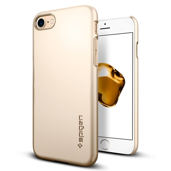 Spigen Thin Fit Case, Champagne Gold, iPhone 7