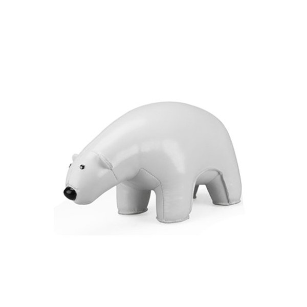 Classic Polar Bear Bookend Color: White