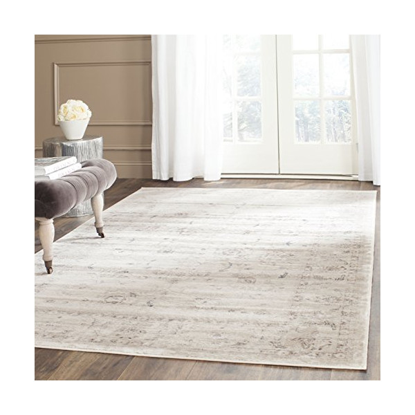 "Safavieh Vintage Collection VTG432D Traditional Oriental Light Grey and Ivory Area Rug (4' x 5'7"")"