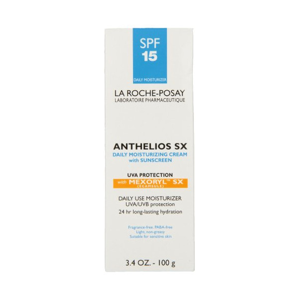 La Roche-Posay Anthelios SX Daily Moisturizing Cream SPF 15 with Mexoryl SX,  3.4-Ounces