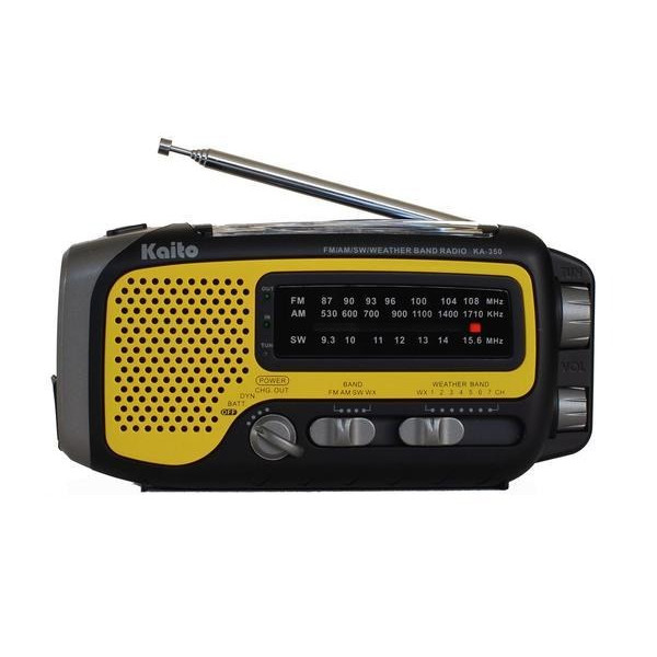 Kaito Voyager Trek Solar/Crank Weather Radio with 5-LED flashlight
