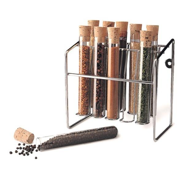 Spice Rack, Glass Spice Tube Set