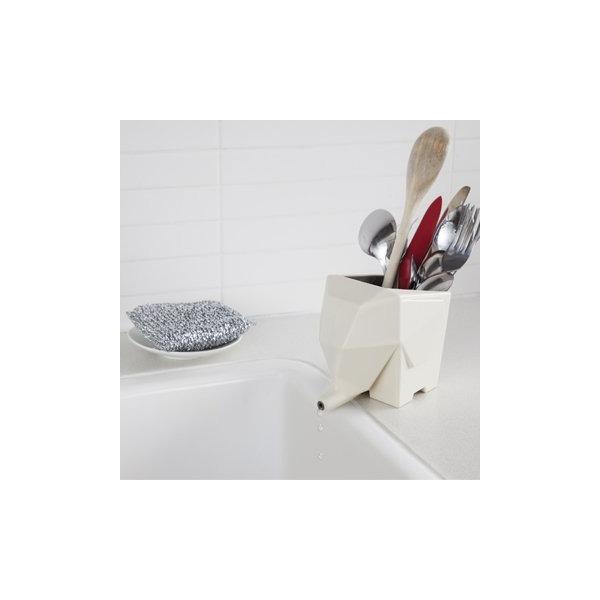 Peleg Design Jumbo Cutlery Drainer, Cream