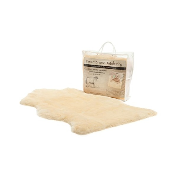 "Premium Quality Soft and Natural Baby Lambskin - Shorn Wool (size XL: 37"" and up)"