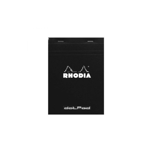 Rhodia Dot Pad Black Notebook, 6 x 8.25