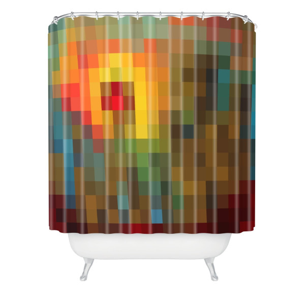 DENY Designs Madart Glorious Colors Shower Curtain, 69-Inch by 72-Inch