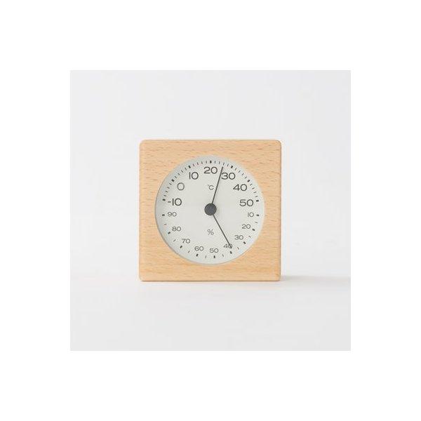 Muji Beech Wood Thermo- Hygrometer - Size - 7x4.3x7cm