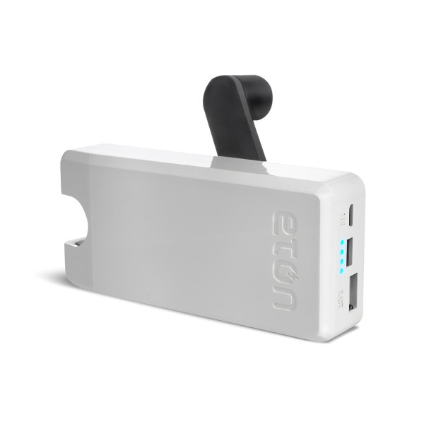 Eton BoostTurbine 2000mAh Portable Battery Pack, White