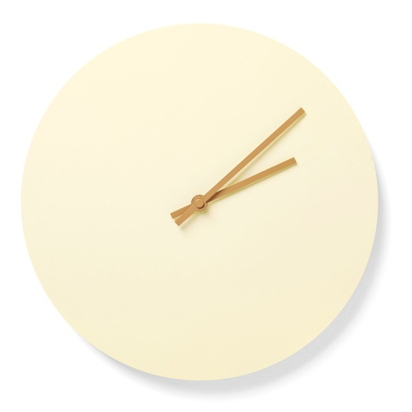MENU Steel Wall Clock, Yellow