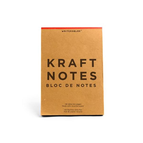 Kikkerland Large Kraft Notes, 6 x 8.5 Inches