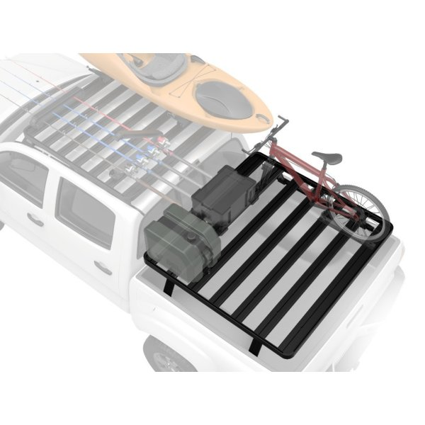 Toyota Tacoma Pick-Up Bed Rack for OEM Bed Rails / Full Size Aluminum Off-Road Slimline II Cargo Carrier - by Front Runner