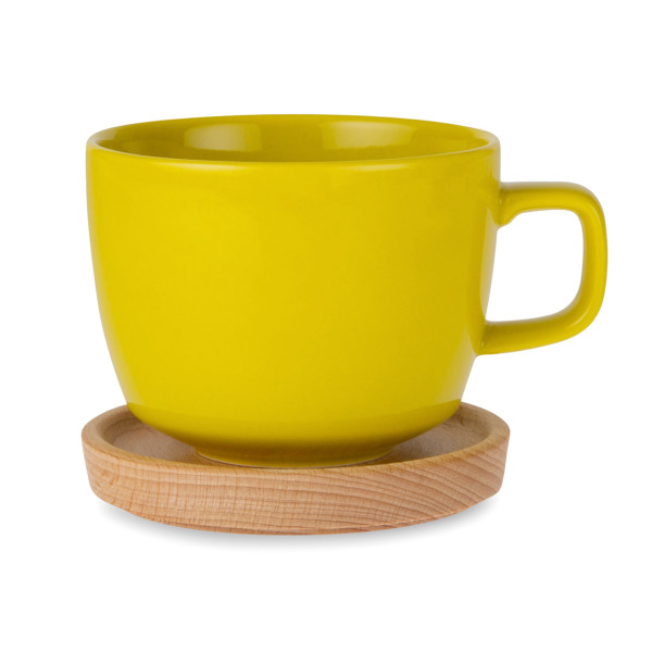 Kinto Neighbors Cup and Saucer, 420ml, Yellow