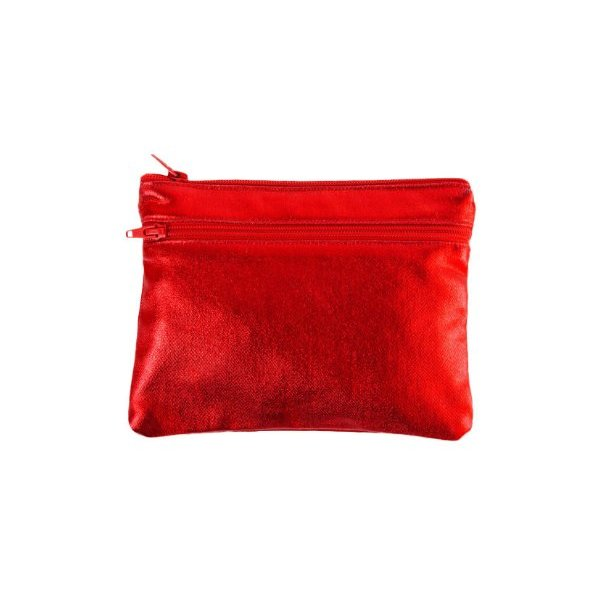 American Apparel Shiny Denim Make-Up Bag -Red
