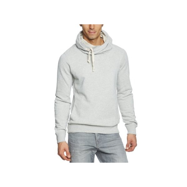 Scotch & Soda Men's Melange Twisted Neck Hoodiie