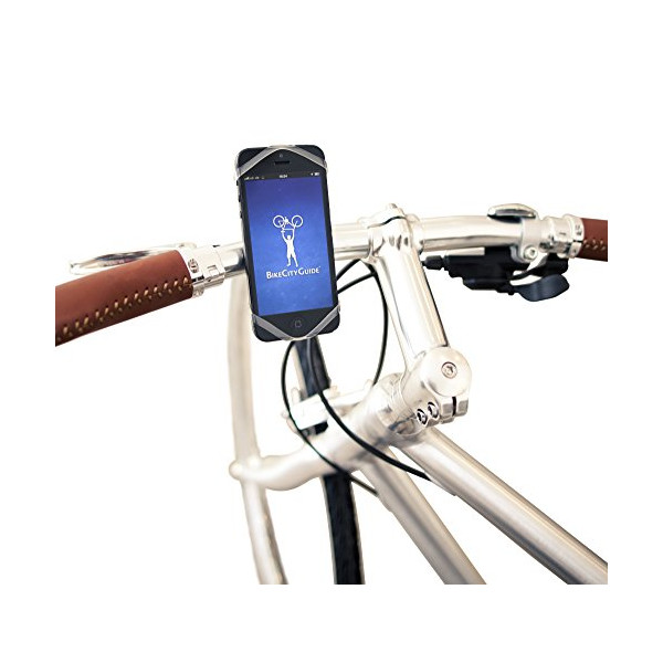Finn® Universal Smartphone Bike Mount - Award Winning Mount that Fits Every Phone and Every Bike. Fits iPhone 6+, 6, 5, 4, iPod Touch, Galaxy S5, S4, S3, Active, HTC One M8, BlackBerry Z10, Moto X, Amazon Fire Phone, Nokia Lumia, Sony Experia, and more!