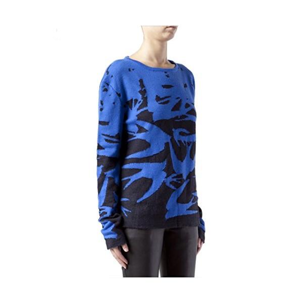 McQ Alexander McQueen Jacquard Knit Sweater, Navy Cobalt
