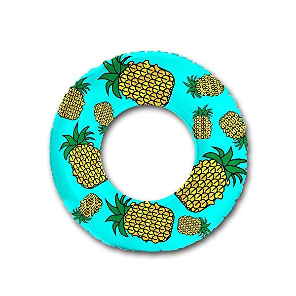 "Flonuts Pineapple Inflatable 48"" Donut Tube Pool Float"