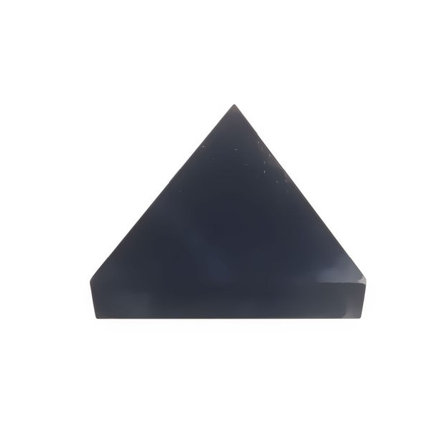 Pyramid Black Obsidian Carved Stone Rock 1""