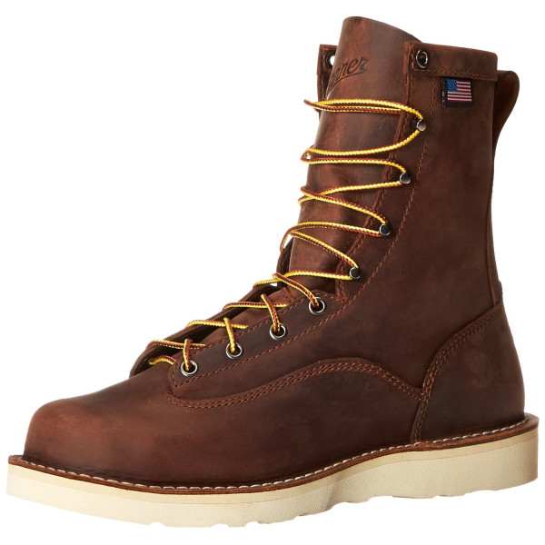 Danner Men's Bull Run 8-Inch BRO ST Cristy Work Boot,Brown,7 D US