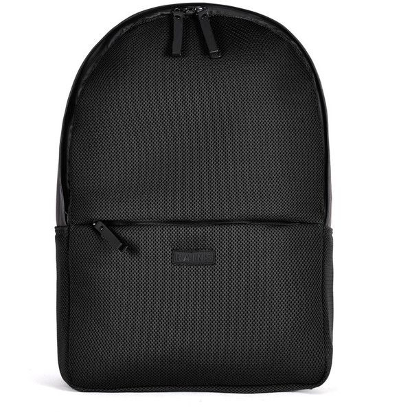 RAINS Waterproof Mesh Backpack, Black