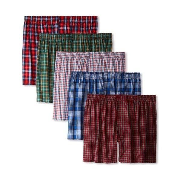 Hanes Men's Classics 5-Pack Tartan Boxer - Colors May Vary, Tartan Plaid, Small
