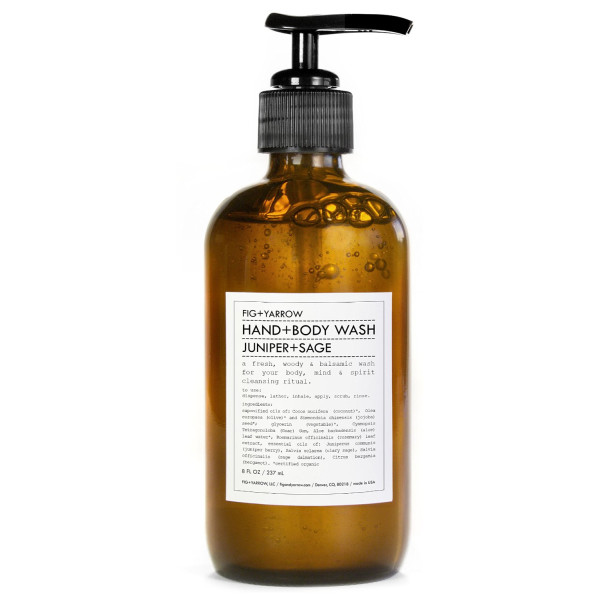 FIG+YARROW Organic Hand+Body Washes, Juniper+Sage