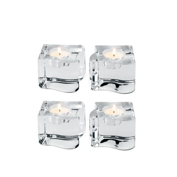 Orrefors Puzzle Votives, Set of 4