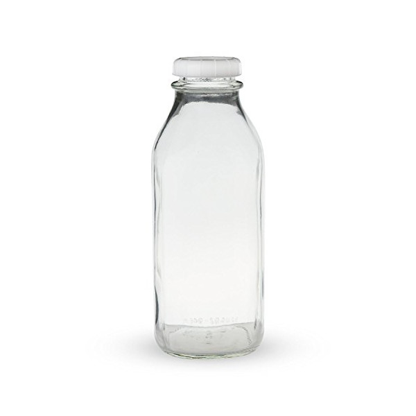 Libbey Glass Milk Bottle with Lid - 33.5 oz