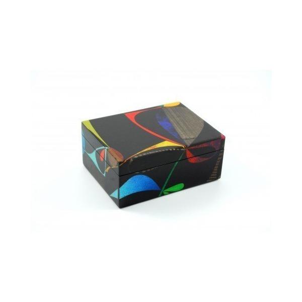 """Rex Ray Collection Lacquer Medium Box Fleuron 8"""" X 6"""" X 3.5"""""""