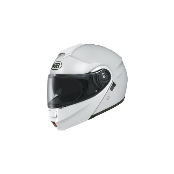 Shoei Solid Neotec Modular Motorcycle Helmet - White / X-Large