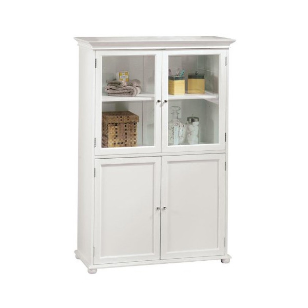 "Hampton Bay Tall Cabinet, STANDARD 36""W, WHITE"