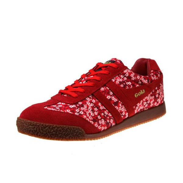 Gola Harrier Misti Valeria Liberty Women's Classic Sneaker, Red, 8 B US